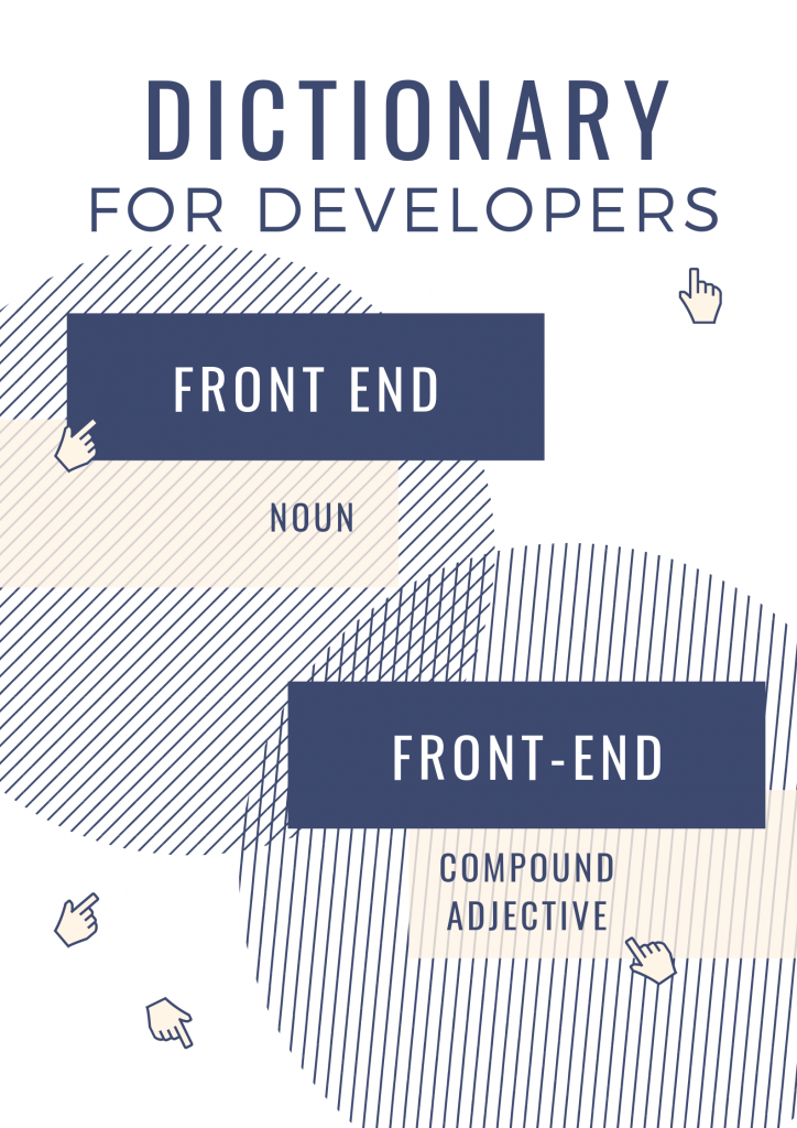 front end czy front-end