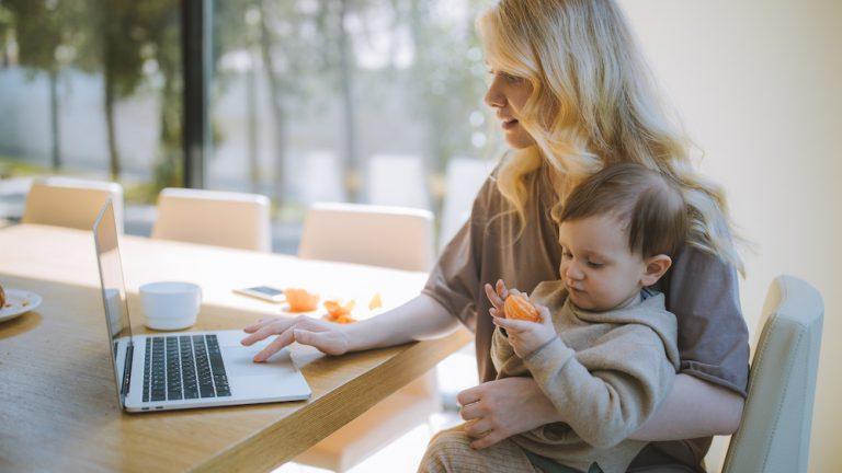 Praca w domu z dzieckiem - ach te internety